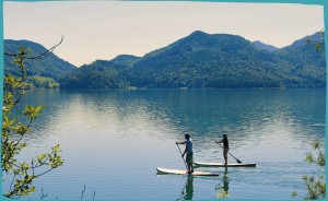 Stand Up Paddling am Walchensee